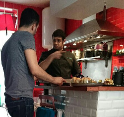 Sid et son chef cuisinier