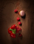 macaron poivron framboise