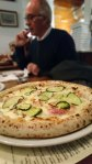 pizza Pancetta e Zucchine, pizza bacon et courgette