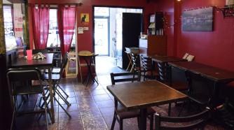 intérieur du café, salle de dégustation